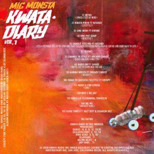 Tracklist for Mic Monsta's Kwata Diary