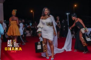Mimie attends the 2018 AFRIMA Awards in Accra, Ghana