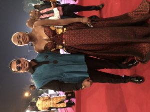 Van Vicker and Elizabeth attends the 2018 AFRIMA Awards in Accra, Ghana