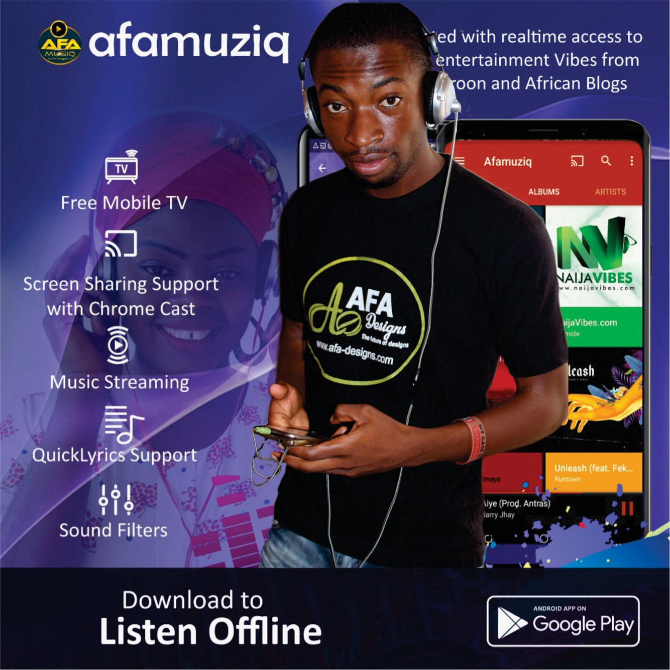 AfaMuziq Is The Best Free Music App To Listen New Cameroonian Songs