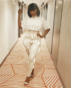 New Obsession! Daphne Njie Rocks Similar Jumpsuit Design Thrice