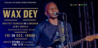 Join Wax Dey for an exclusive live music experience in Douala